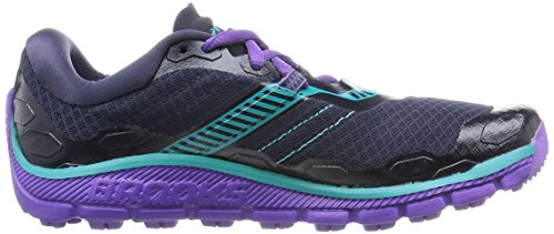 Brooks Damen PureGrit 5 Laufschuhe Blau (Peacoat/Passionflower/Ceramic)