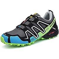 Skeches Hombres Calzado Deportivo Malla poca Ayuda Talón Plano Impermeable Antideslizante Exterior Zapatos de Senderismo, 003, EUR 45=UK 10.5