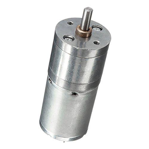 Gazechimp Silber JGA25-370 Miniatur DC Getriebe Motorgetriebe Untersetzungsgetriebe Elektromotor - 12V 620RPM