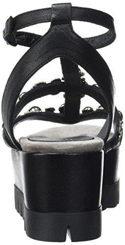 NOW 3749, Sandales Plateforme Femme Noir (Noir)