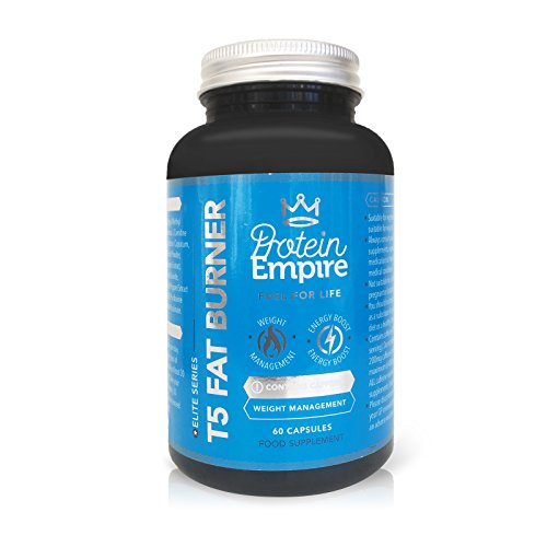 PROTEIN EMPIRE ELITE SERIES T5 FAT BURNER 60 CAPSULES – Effective Safe & Natural Fat Burners for Women and Men, Best Fat Burners, Weight Loss – FULL Money Back Guarantee – Manufactured In The UK