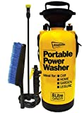 Streetwize SWPW Portable Power Washer - 8 L Multipurpose Pressure Sprayer - Washer Gun for Spraying, Cleaning, Painting
