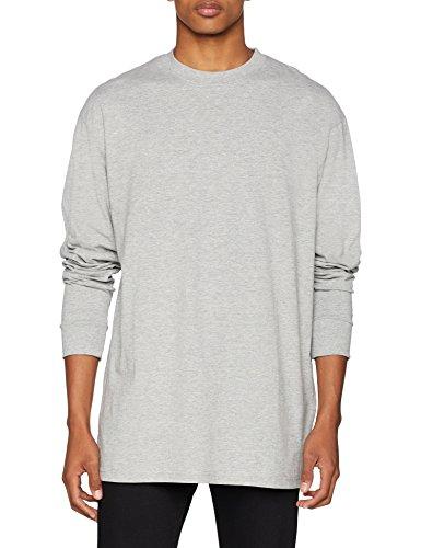 Urban Classics Herren Tall Tee L/S T-Shirt, Grau, XXX-Large - Tall Classic Fit Shirt