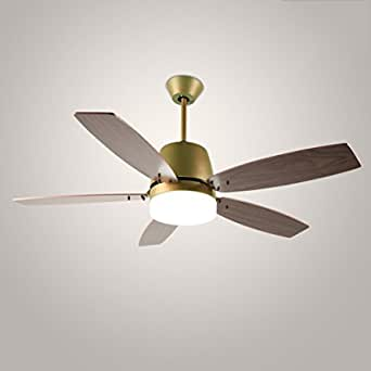 Illumination Ceiling Fan Restaurant Fan Lights Living Room Retro Simple Household Wood Grain Fan Chandeliers With Fan Lights Indoor Light Amazon Co Uk Lighting