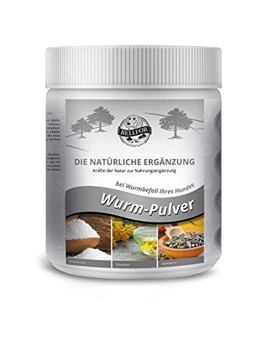 BELLFOR Nahrungsergänzung für Hunde Wurm - Pulver 250g - 100% natürliche Art bei Wurmbefall von Hunden