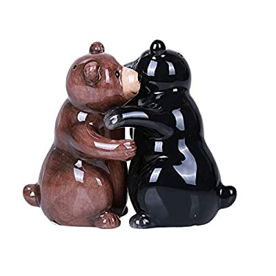 Hugging Bears Magnetic Ceramic Salt and Pepper Shakers Set by PT