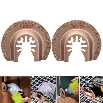 2 stücke 63mm Sägeblätter Quick Release Multitool Hartmetall Segment für Bosch Handwerker Oscillating Tools