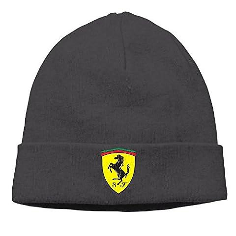 Hittings Zengtaoqi Ferrari Logo Skull Cap Winter Knit Cap Beanie Cap For Unisex Black