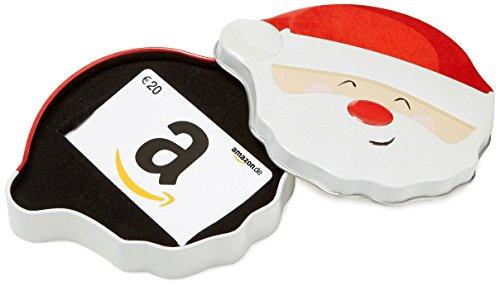 Amazon.de Geschenkkarte in Geschenkbox - 20 EUR (Lächelnder Weihnachtsmann)
