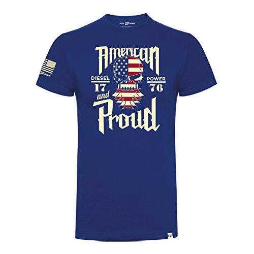 Diesel Power DPG Gear T Shirt American and Proud Royal Blue L