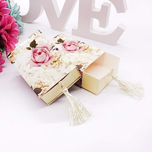50 stücke Europäischen und Amerikanischen stil hochzeit süßigkeiten box Schublade Former Favor Box Reise Candy Box Blumen Hochzeit Gefälligkeiten Geschenk box