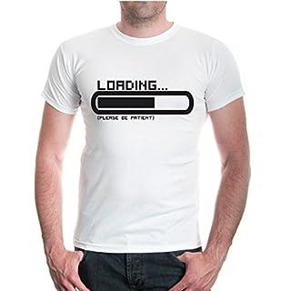 T-Shirt Loading... please be patient-XXXL-White-Black