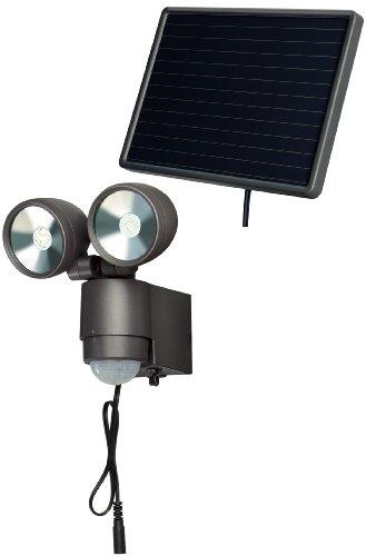 Brennenstuhl LED-Spot SOL / LED-Leuchte für außen mit Bewegungsmelder und Solar-Panel (IP44, inkl. Akku, 8 x 0,5W) Farbe: anthrazit