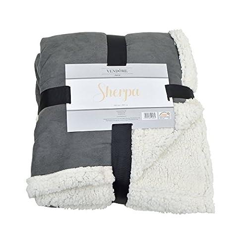 Vendôme Sherpa, couverture douillette XXL haute qualité en peluche mouton moelleux, 200 x 150cm, couleur