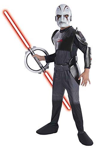 Kostüm Star Wars Inquisitor - Original Lizenz Star Wars Rebels Inquisitor Kinderkostüm - Größe S (142-152cm)