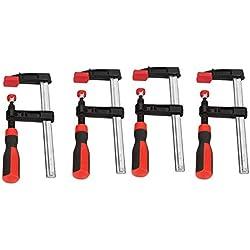 Serre-Joints à Vis de Bois, 4 Pièces Lourd Devoir F Pinces à Bois Glissière Rapide Outils à Main Bricolage Kit- 50 * 150mm