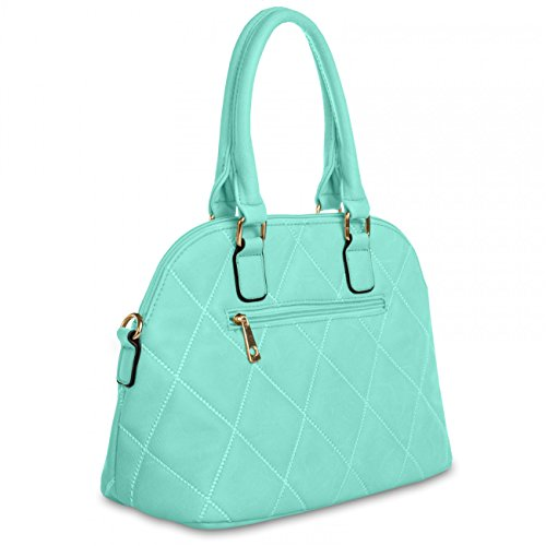 CASPAR Damen Henkel Tasche BENITA / Handtasche / Schultertasche / Messenger Bag - TS930 Türkis