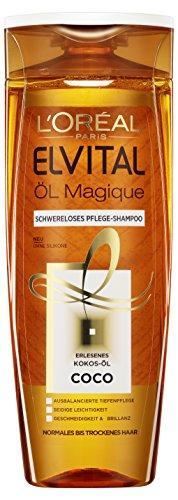elvital coco L'Oréal Paris Elvital Öl Magique Coco Shampoo, 3er Pack (3 x 300 ml)