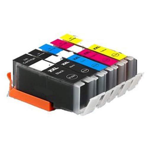 KIT 5 Cartucce Compatibile per Canon CLI 581 PGI 580 XXL PIXMA TR7550 TR8550 TS6100 TS6150 TS6151 TS6250 TS6251 TS8150 TS8151 TS8152 TS8250 TS9150 TS9155 TS9550 TS9551C
