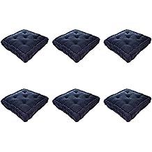 Nicola Plaza Primavera francesa acolchado colchón para silla de comedor cojín de asiento Pad - Negro