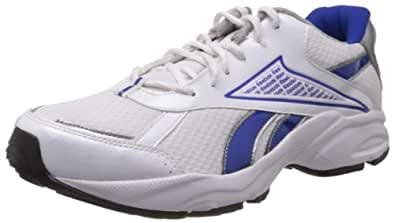 Reebok Men's Linea Lp White and Blue Mesh Running Shoes  - 10 UK