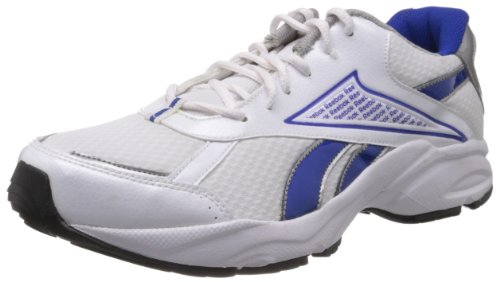 Reebok Men's Linea Lp White and Blue Mesh Running Shoes  – 10 UK 414xqddrkjL