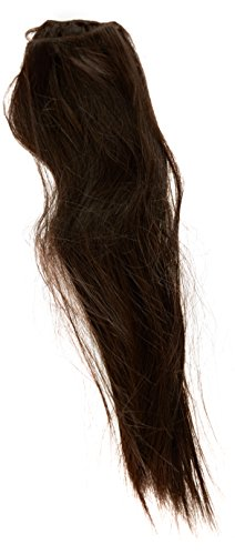 Hair By Misstresses Dark Java Brown 18-inch Silky Straight Human Hair and Synthetic Fibre Blend Clip in Hair Extensions Pack of 10 Wefts