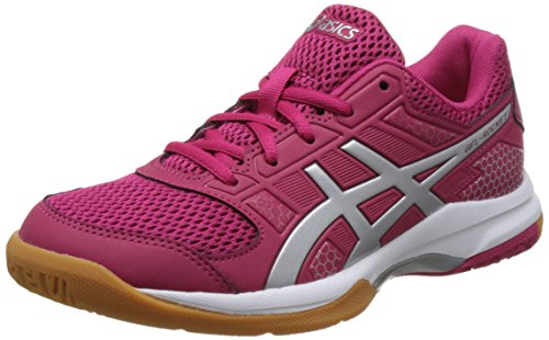 Asics Gel-Rocket 8, Chaussures de Volleyball Femme, Blanc (White/Rouge Red/Silver 2193), 39.5 EU