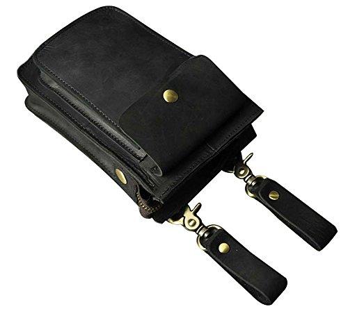 Genda 2Archer Sacchetto di Spalla di Modo Cross-body, Telefono / Sigarette Titolare Nero