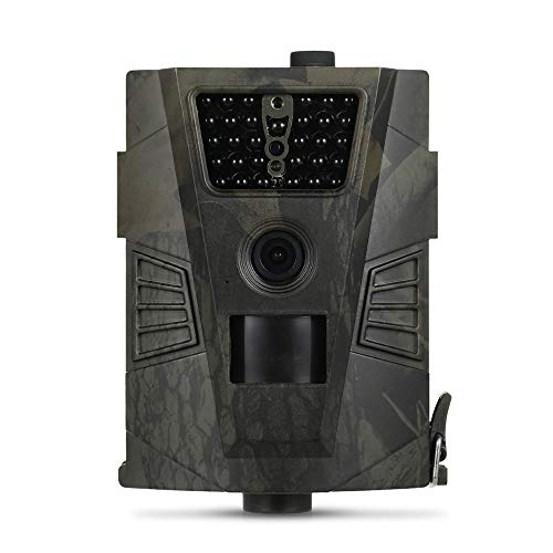 Hofet Wildkamera, 1080P FHD Jagdkamera, mit 120° Weitwinkelobjektiv 30 Infrarot-LEDs Spielkamera, IP56 Wasserdichte Nachtsichtbereich 65 Ft Jagdkamera Bewegungsmelder