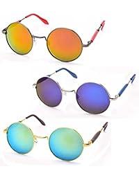 Stacle Lennon Inspired Round Unisex Sunglasses (ST2001 50 Multiple Colours