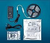 LED-Streifen 5 Meter Neutralweiß inkl. Netzteil & Funk-Dimmer | 24V 4000K 120LEDs/m | Dimmbar Selbstklebend IP65 Wasserdicht