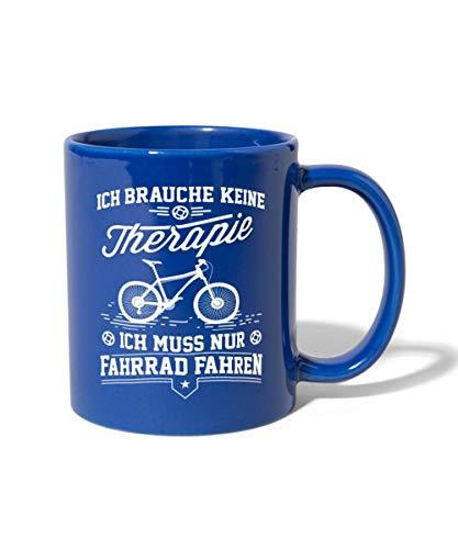 Spreadshirt Keine Therapie Nur Radfahren Fahrrad Spruch Tasse einfarbig, Royalblau