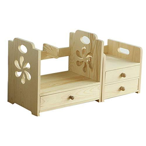 Lixmzzwj organizer da tavolo in legno, scaffale per posta da ufficio per scrivania forniture da tavolo o da banco con ripiano per 2 aree di lavoro (dimensioni : 24.5x22x22 30x20x35)