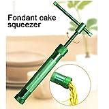 Acciaio Inossidabile Pasta di Zucchero estrusore mestiere Pistola con 20 Punte mestiere dello Zucchero del Fondente Torta Scultura Polymer Strumenti Argilla