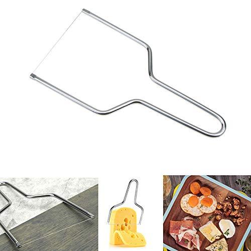 Kalolary Käsehobel, Edelstahl Käse Messer Hobel mit Draht - Küche Werkzeuge Handheld Butter Cutter Werkzeug für Soft Hard Block Käse (Käse Block Von)