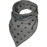 Zahntuch Sterne grau, wasserdichtes Halstuch