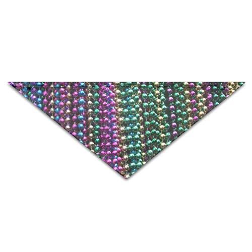 Mardis Gras Beads - Mardi Gras Beads Turban Triangle Scarf