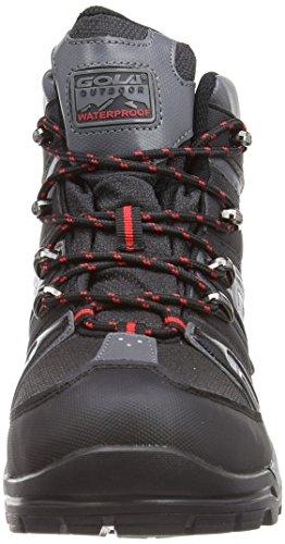 Gola Manzano, Chaussures de randonnée homme Schwarz (Black/Red/Grey)