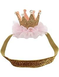 LETTER® Baby Blumen Crown Headwear Elastische Hairband Kopf Zubehör
