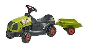 Falk Ride On Baby Claas Axos 340 Tractor con Remolque cubierta de juguete niños al aire libre