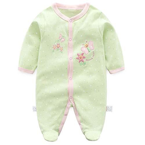 Jiamy neonato pagliaccetto in cotone pigiama ragazzi tutina manica lunga 0-3 mesi