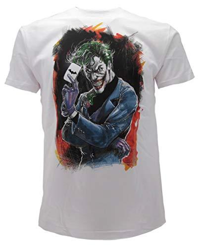 aba1e36dc94c39 Dc comics t-shirt joker originale supereroi maglia film batman prodotto  ufficiale (xl adulto
