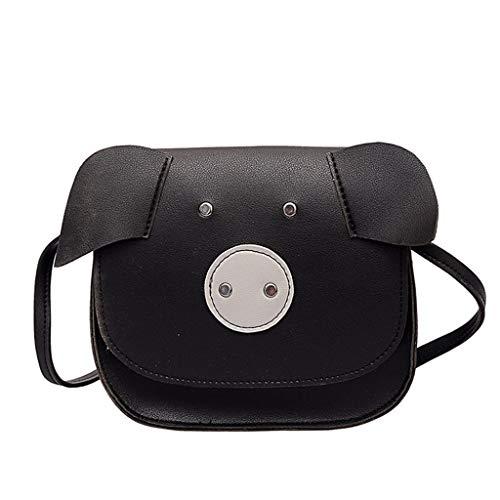 Produp Womens Messenger Bag Animal Pig Muster Tasche Schultertasche Geldbörse Telefon Fall - Muster Flache Geldbörse
