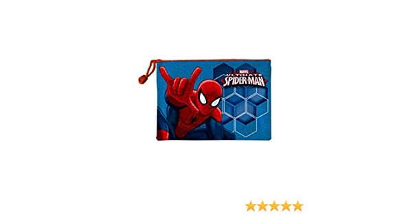 Trousse de toilette imperm/éable enfant Spider-man Bleu//orange 29x21cm