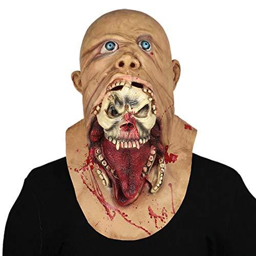 (Halloween Horror Requisiten Biohazard Ekelhafte Rot Gesicht Bloody Zombie Zombie Lustige Maske)
