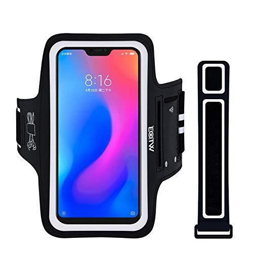 EOTW Fascia da Braccio Porta Cellulare Braccio per Xiaomi Mi A2 Lite, Porta Smartphone Running Samsung Galaxy S10e, Fascia porta Cellulare running