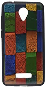 iCandy™ UV Printed Matte Finish Soft Back cover For Micromax Canvas Spark Q380 - BRICKS