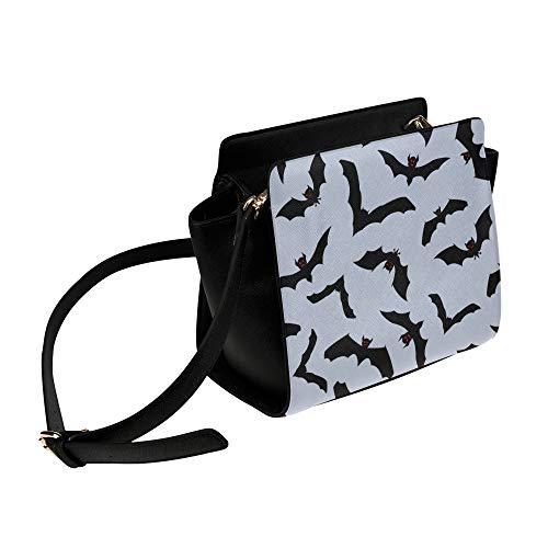 Black Night Wild Animal Fledermaus Umhängetasche Umhängetaschen Reisetaschen Seesack Umhängetaschen Gepäck Organizer Für Lady Girls Womens Work Shopping Outdoor