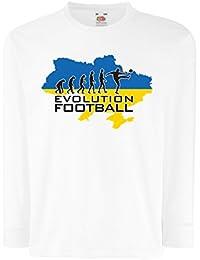 lepni.me Niños/Niñas Camiseta Evolución del Fútbol - Ucrania, Campeonato, Equipo